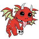 Lil Beelzebub  Cute Dragon by DianaLevinArt