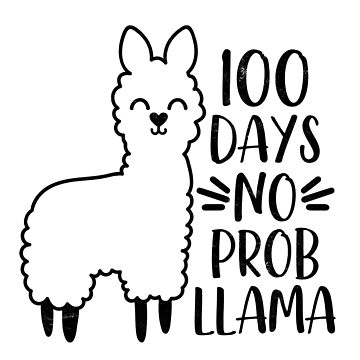 "Teachers Students T-Shirt 100 Days ""No'Probllama School Tee Gifts  by arnaldog"
