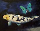 Bekko Koi and Butterfly by Michael Creese