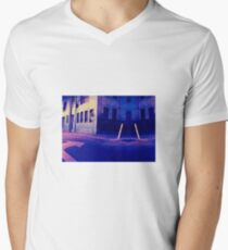 Urban Night Scene 3 Men's V-Neck T-Shirt