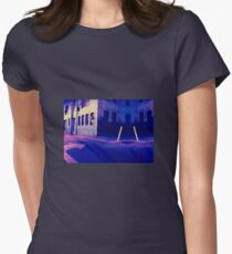 Urban Night Scene 3 Womens Fitted T-Shirt