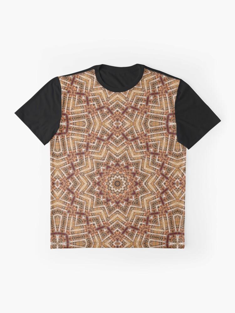 Alternative Ansicht von Hell- und dunkelbraunes Mandala Grafik T-Shirt