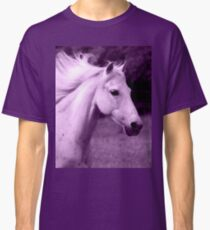 Purple White Horse Head Classic T-Shirt
