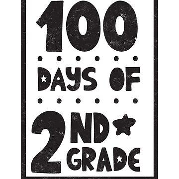Teachers Students T-Shirt 100 Days Of 2nd Grade Novelty Gift  by arnaldog