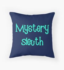 Mystery Sleuth by Chillee Wilson Throw Pillow