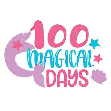 Teachers Students T-Shirt 100 Magical Days Novelty Gift  by arnaldog