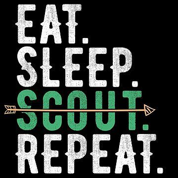 Eat Sleep Scout Repeat Flying Arrow by alenaz