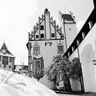 Saint Mang Basilica in Füssen on a snowy day by Elzbieta Fazel