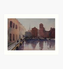 By the Docks Art Print
