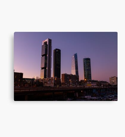 Madrid - Four Towers Canvas Print