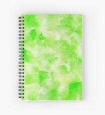 Lovely abstract art watercolor pattern in lime green. Spiral Notebook