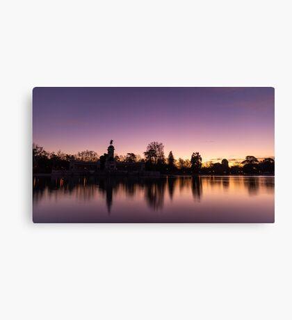 Madrid - Retiro Park at sunrise Canvas Print