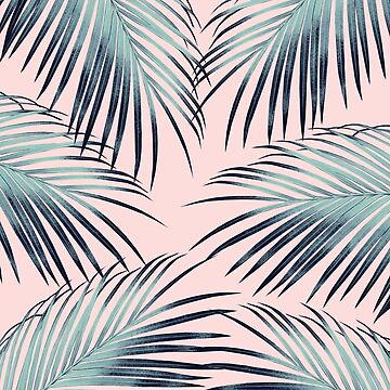 Blush Palm Leaves Dream #3 #tropical #decor #art  by anitabellajantz