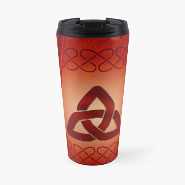 Wonderful celtic knot in red colors Travel Mug