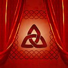 Wonderful celtic knot in red colors by nicky2342