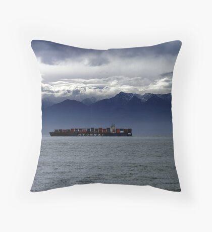 Nearing Port Throw Pillow
