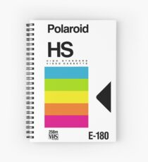 Retro VHS tape vaporwave aesthetic rainbow Spiral Notebook