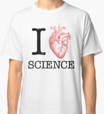 I Love Heart Science - Biology Anatomy Illustration Classic T-Shirt