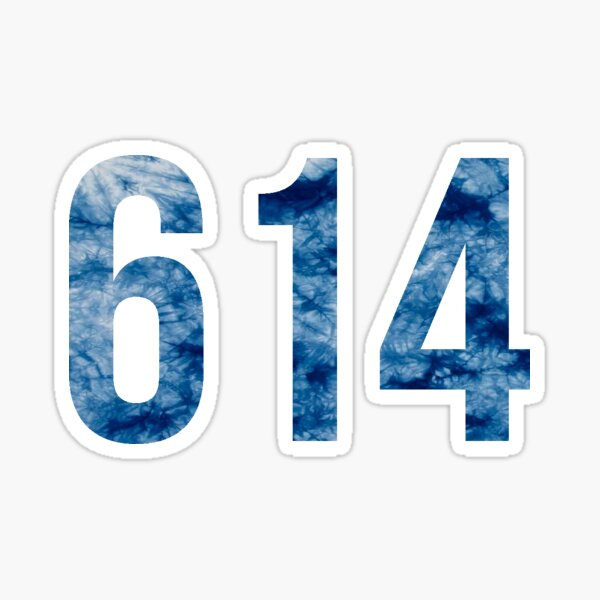 4 wide Columbus Ohio Decal Area Code 614 OH Decal 4 tall 614 Area Code Decal Ohio Home Roots Car Laptop Vinyl Sticker