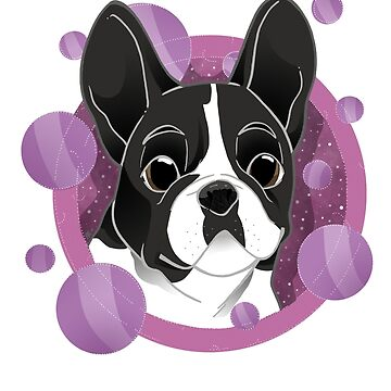 Frenchie lover - version 2 by mimi111art