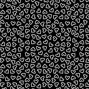 Inverted White on Black Hearts by TimorousEclectc