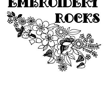 Embroidery Fans Design  by JuditR