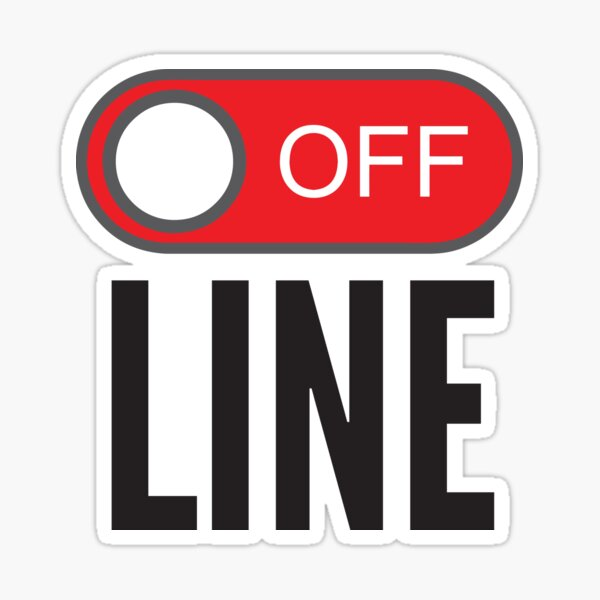 Offline Logo Stickers   Redbubble
