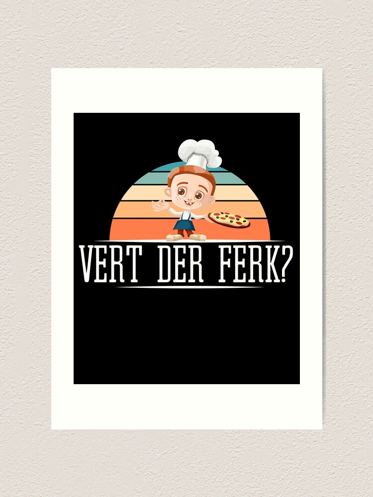 Cute Cooking Chef Tees Vert Der Ferk T-Shirts Chefs Kitchen Bbq Barbeque Lovers And Kitchen Fans