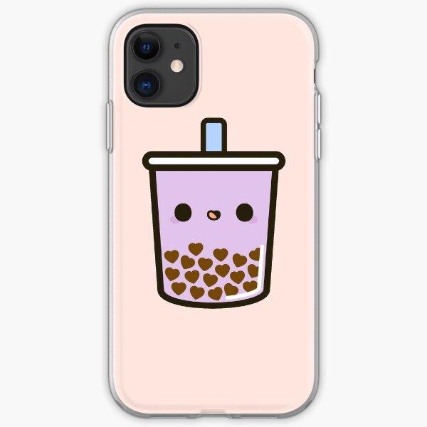 Cute Love Heart Bubble Tea iPhone Soft Case