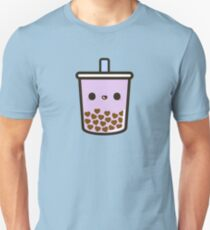 Cute Love Heart Bubble Tea Slim Fit T-Shirt