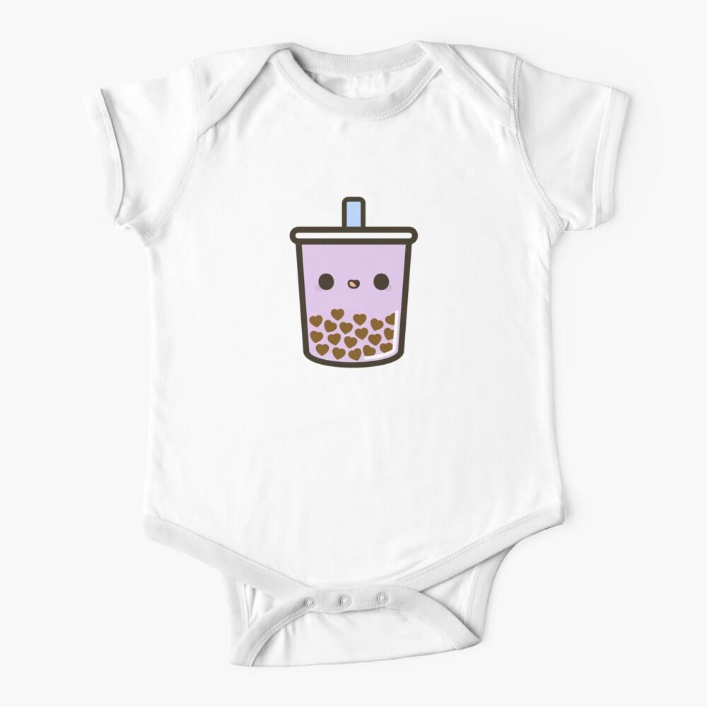 Cute Love Heart Bubble Tea Baby One-Piece