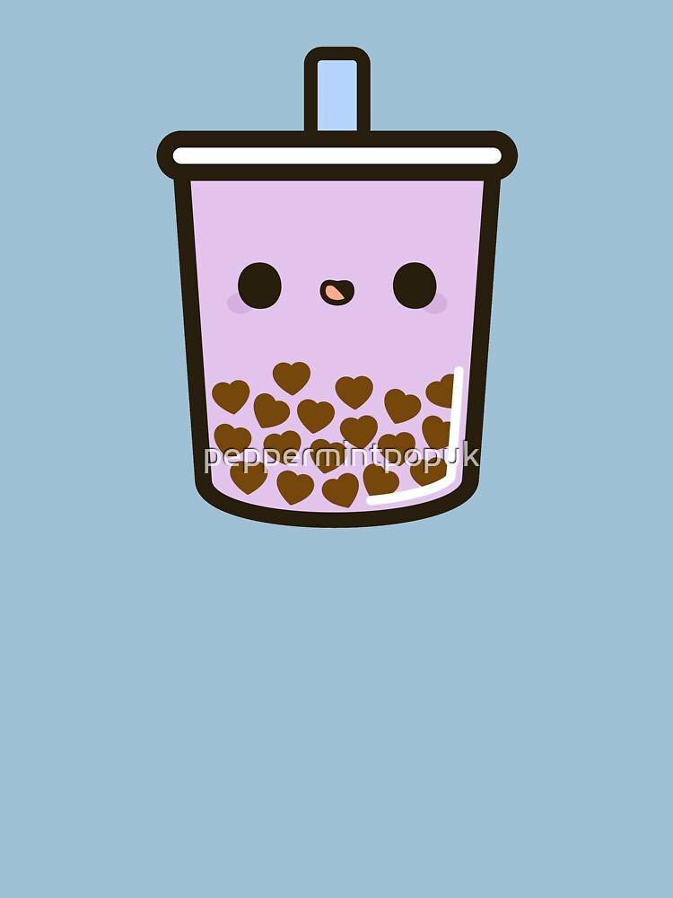 Cute Love Heart Bubble Tea by peppermintpopuk