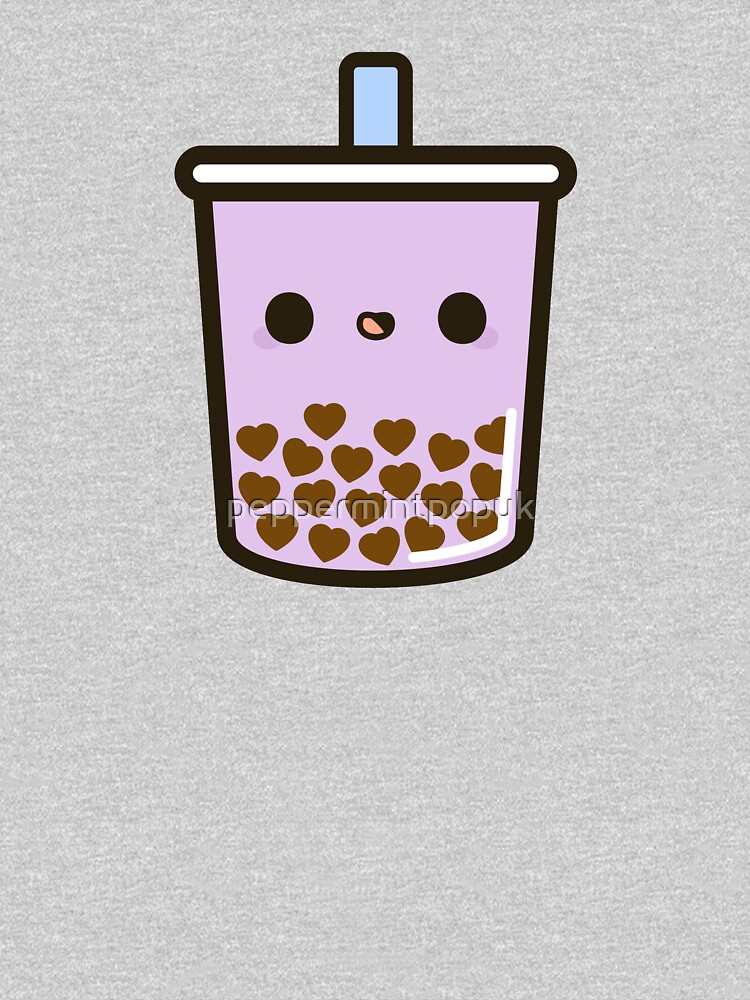 Cute Love Heart Bubble Tea by peppermintpopuk