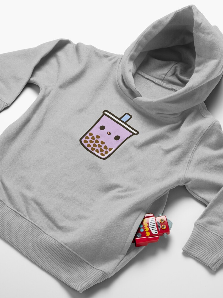 Alternate view of Cute Love Heart Bubble Tea Toddler Pullover Hoodie