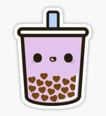 Cute Love Heart Bubble Tea Sticker