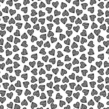 Striped Heart Doodle Pattern by TimorousEclectc