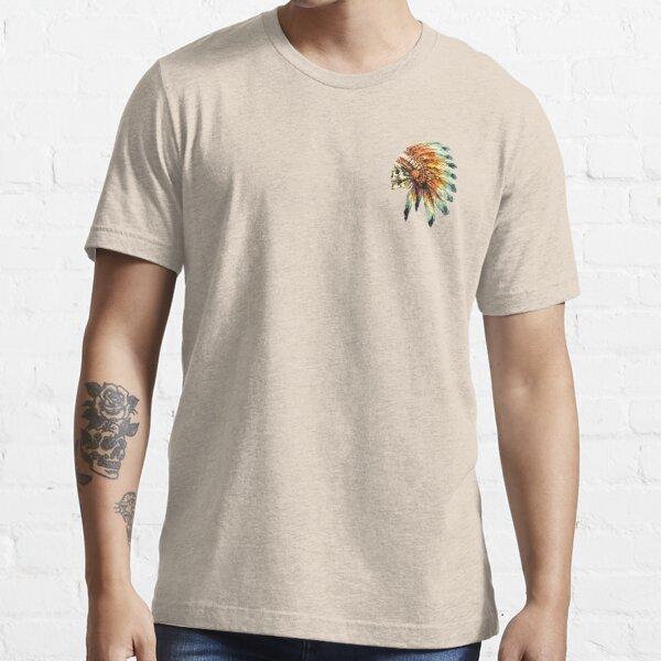 sin perder originalidad y autenticidad. nativo americano. Camiseta esencial