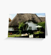 lovely thatched cottage, Figheldean, Wiltshire Greeting Card