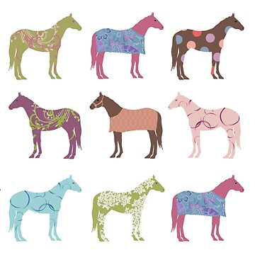 Colorful Horse Pattern by PaintingPony