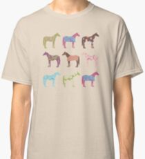 Colorful Horse Pattern Classic T-Shirt