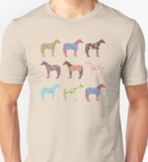 Colorful Horse Pattern Unisex T-Shirt