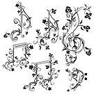 Blumenmusiknoten von AnnArtshock