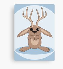 Brown Jackalope Canvas Print