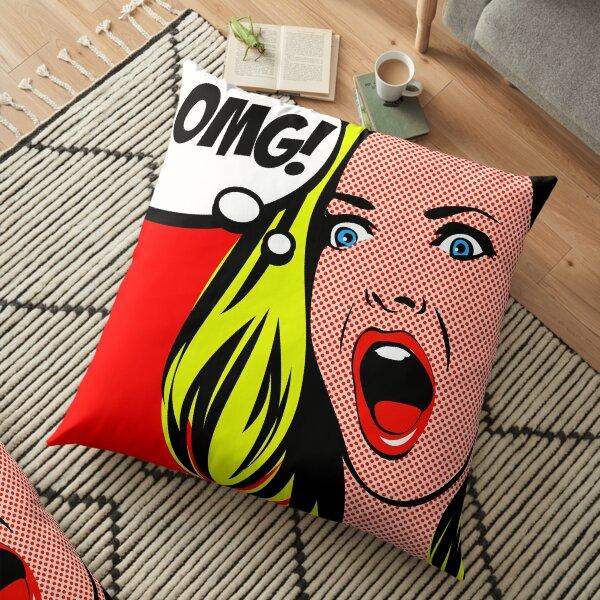 Retro Pop Art - OMG! Floor Pillow