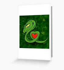 Snake and Heart Greeting Card