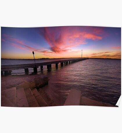 sunset over the swan river Poster