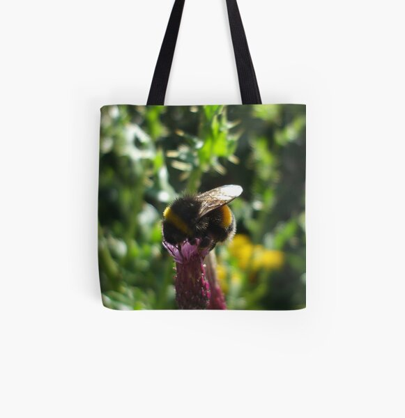 thistle bee All Over Print Tote Bag