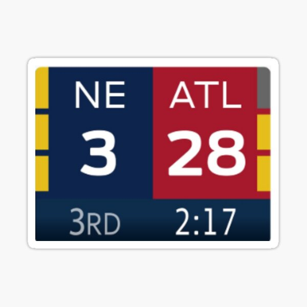 28-3 Patriots-Falcons Sticker