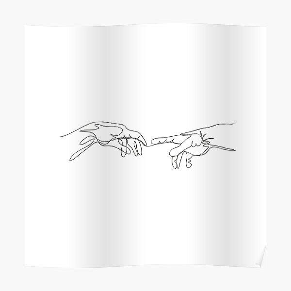 Michael Angelo, line art. Poster