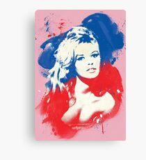 B. B. - Pop Art Fashion Icons Canvas Print